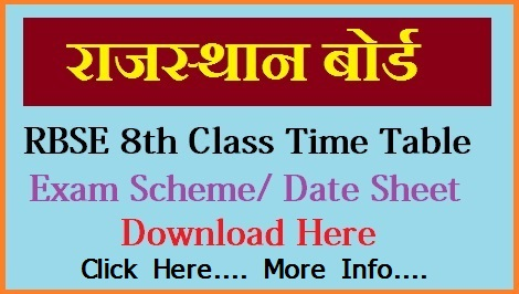DIET 8th Time Table 2021 - DIET Bikaner VIII Time Table 2021 Download